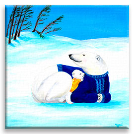Polar Bears | Super Cute Nursery CANVAS Image