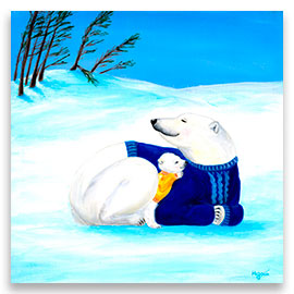 Polar Bears | Super Cute Nursery POSTER Image