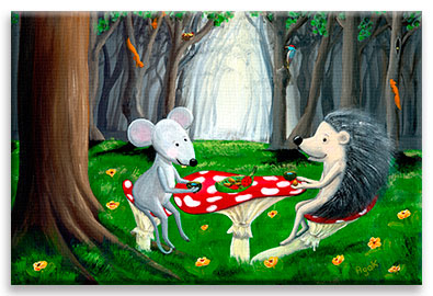 Tea Time | Mouse & Hedgehog CANVAS Image