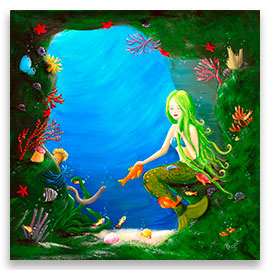 Underwater Friends | Beautiful Mermaid POSTER Image