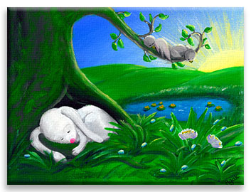White Rabbit | Cute Bunny CANVAS Image