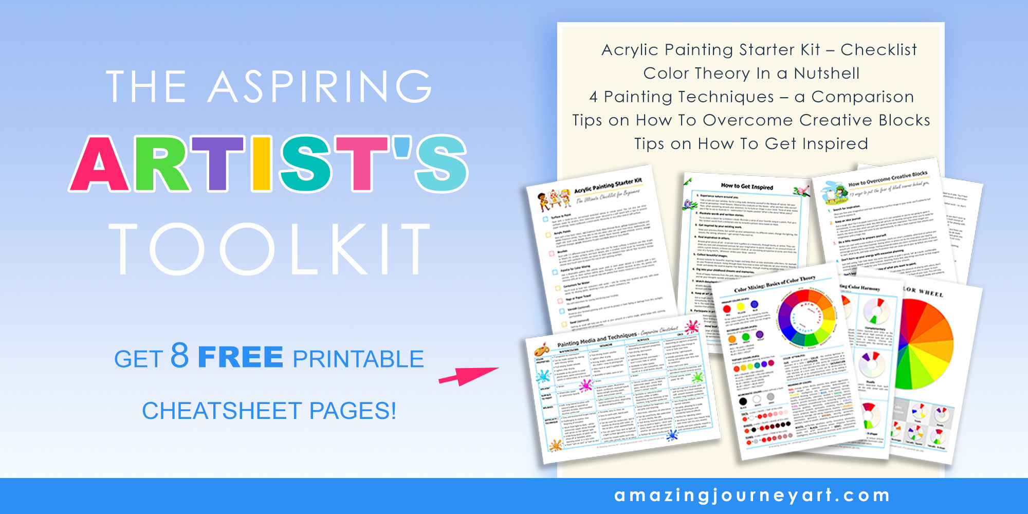 art-related printable pages