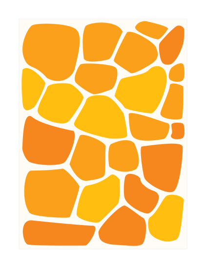 Abstract art in orange and white.
