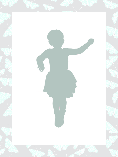 Shape of a little ballerina.