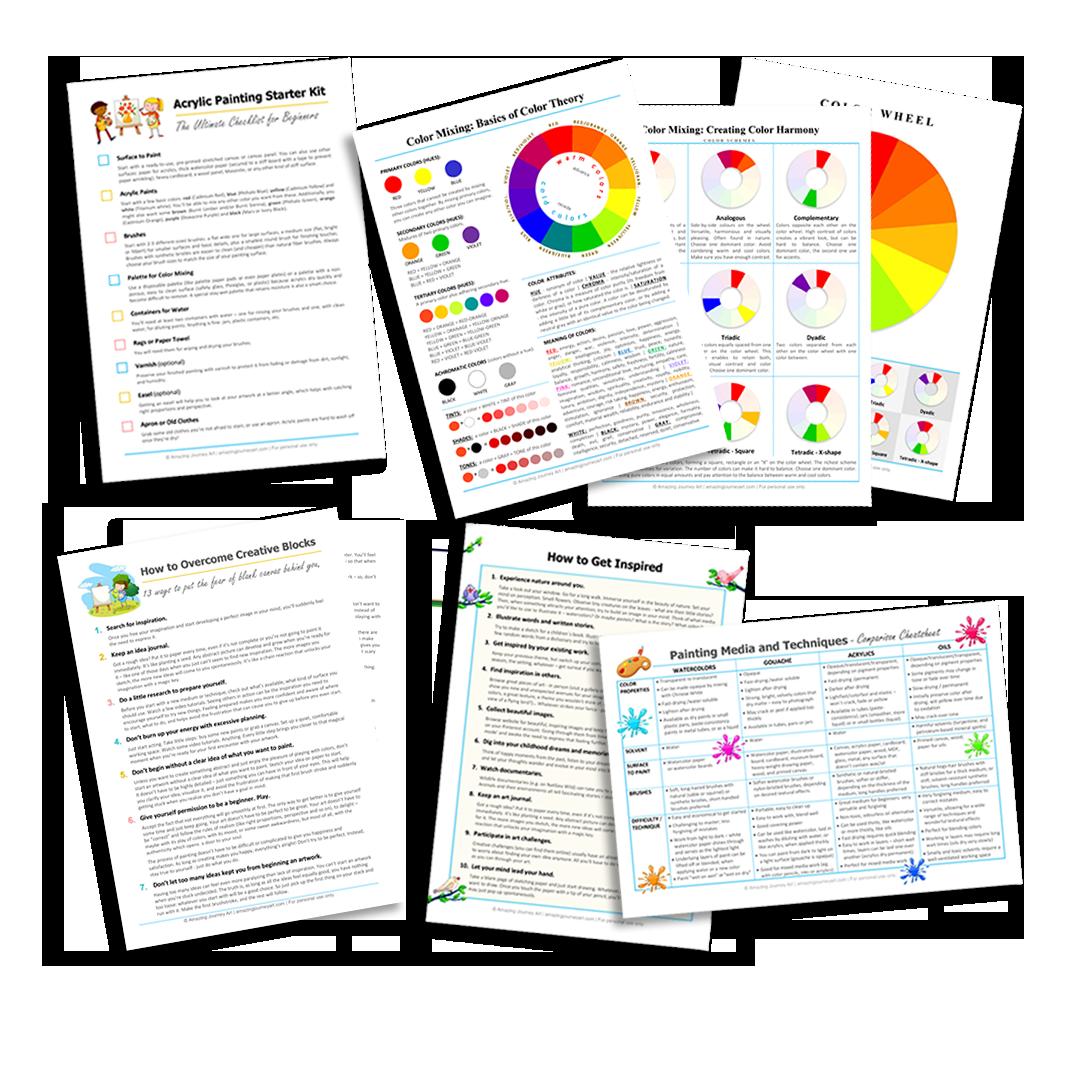 Artst's Toolkit - free printables
