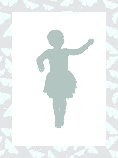 Shape of a little ballerina.