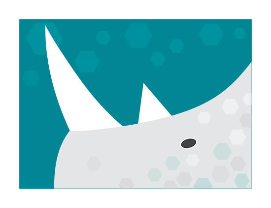 Rhino. Abstract digital art.